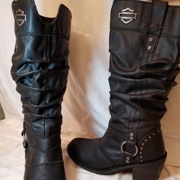size 40 70ab7 c82c4 Harley Davidson women's Jana Black leather boot